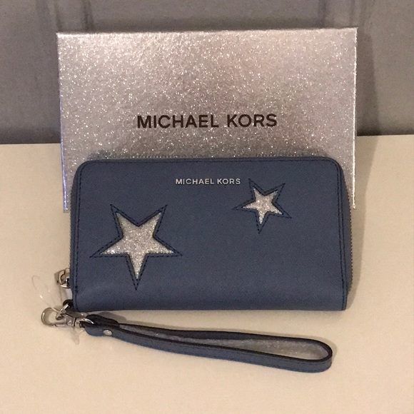 new style deddc 030c9 Michael Kors Peek A Boo Wallet/Tech Case BRAND NEW NWT